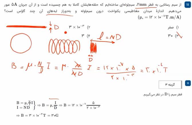 فیزیک-یازدهم-فصل-۳-تست-های-مغناطیس