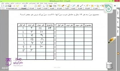 ریاضی-هفتم-قسمت۵-راهبرد-حل-مسئله-حل-تمرین-دکتر-آی-کیو