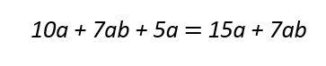 مثال برای ساده کردن عبارات جبری