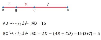 جواب مثال پاره خط