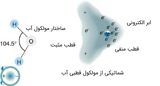 مولکول قطبی آب