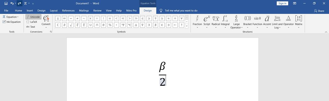 فرمول نوشتن در ورد