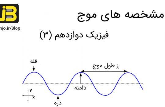 مشخصه های موج - فیزیک دوازدهم
