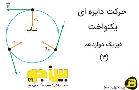 حرکت دایره ای یکنواخت - فیزیک دوازدهم
